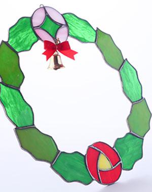 クリスマスリースの写真