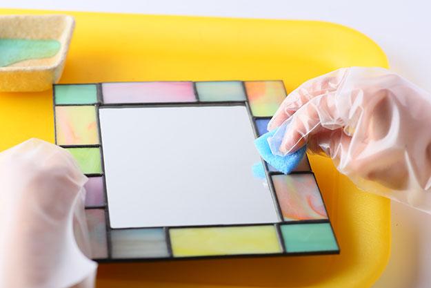 ステンドグラス制作手順の写真